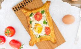 Huevos en canasta, receta en revista maria orsini